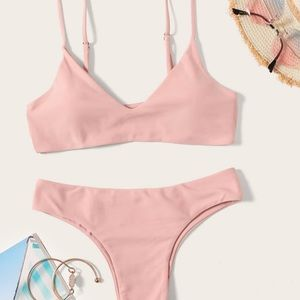 SHEIN never before worn baby light pink bikini!